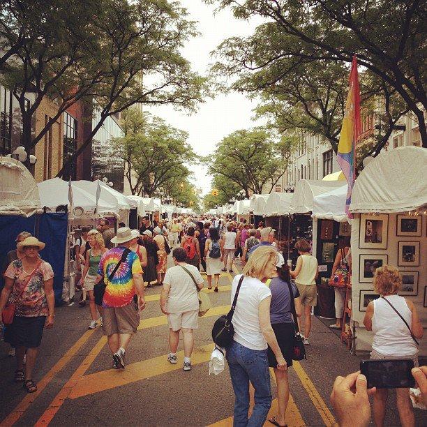 Downtown Ann Arbor Art Fair