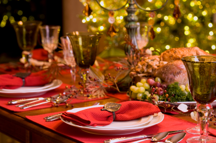 If The Meal Is Served Family Style (with Serving Vessels On The Table),  Keep The Centerpiece Small And Candles Close To The Centerpiece To Avoid  Accidents ...