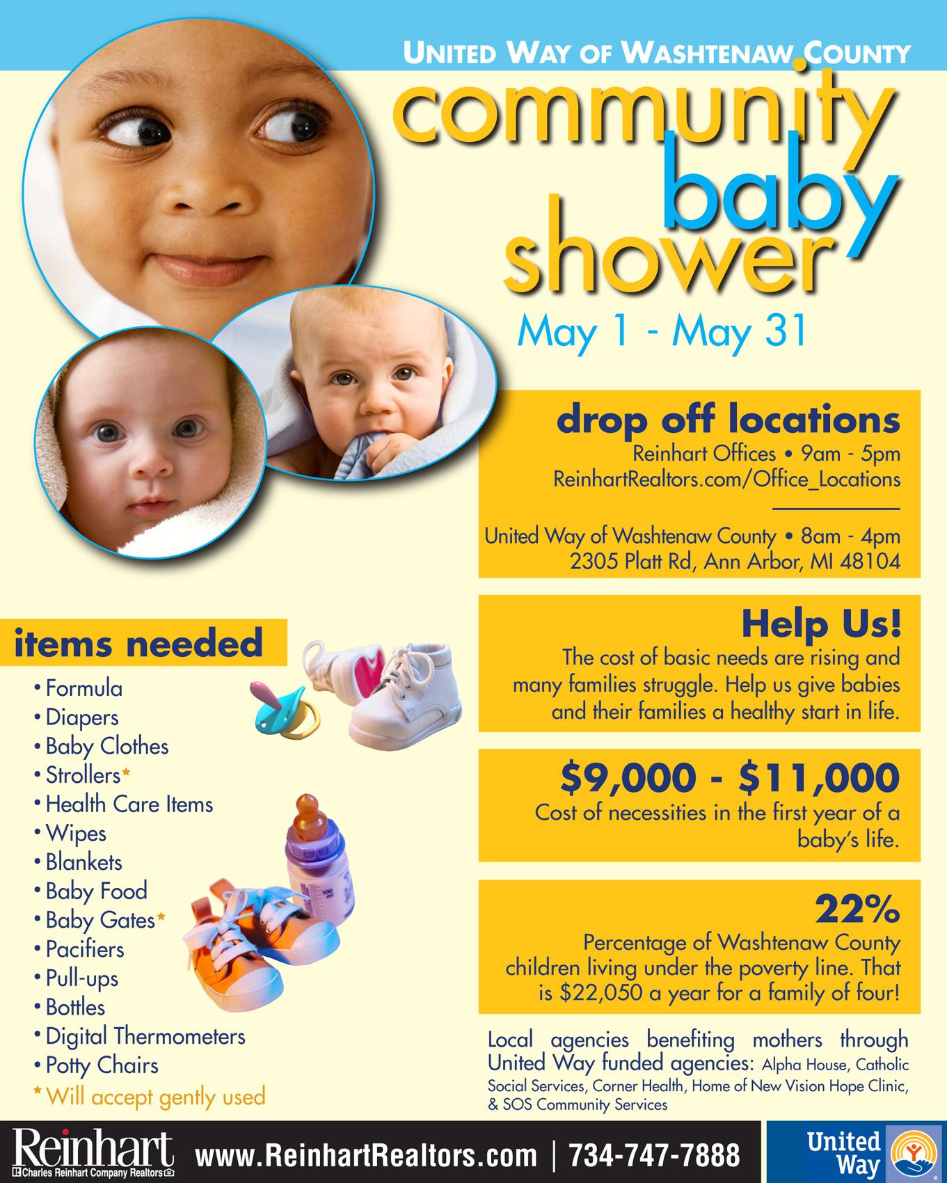 fourth annual community baby shower reinhart reinhart